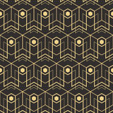 Abstract art deco seamless pattern_1. Vector modern tiles pattern. Abstract art deco seamless monochrome background Royalty Free Stock Photo