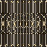 Abstract art deco seamless pattern_1. Vector modern tiles pattern. Abstract art deco seamless monochrome background Stock Photography