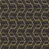 Abstract art deco seamless pattern_1. Vector modern tiles pattern. Abstract art deco seamless monochrome background Stock Photo