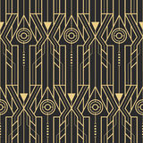 Abstract art deco techno seamless pattern. Vector modern tiles pattern. Abstract art deco seamless monochrome background Royalty Free Stock Photos