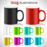 Abstract art design for print on a cup. Vector. Illustration concept Royalty Free Stock Images