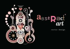 Abstract Art Design vector illustration Stock Photos