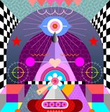Abstract Art Design vector illustration. Modern Abstract Art vector illustration. Abstraction background design vector illustration