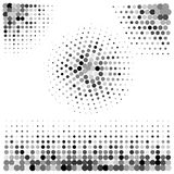 Abstract art dotted halftone  Royalty Free Stock Images