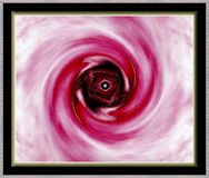 Abstract Art: Eye Of The Storm. Abstract Art: Eye Of The Rouge Cyclone.  Shades of pink and red outline this blood-shot eyeball centered in the middle of the royalty free stock photography