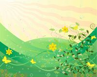 Abstract art floral vector Royalty Free Stock Images