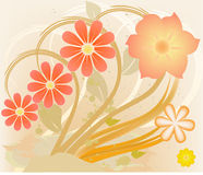 Abstract art floral vector Stock Photo