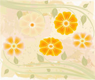 Abstract art floral vector Stock Image