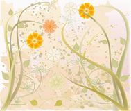 Abstract art floral vector stock photography