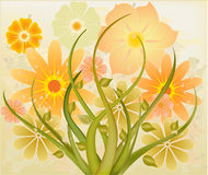 Abstract art floral vector Royalty Free Stock Photo
