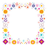 Abstract art flowers nature retro frame border Royalty Free Stock Photography