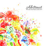 Abstract art hand draw ornament background Stock Photography