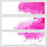 Abstract art header set collection Stock Photo