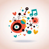 Abstract art illustration. Cute abstract art decorative illustration Royalty Free Stock Images