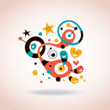 Abstract art illustration. Cute abstract art illustration, it's great Stock Photos