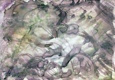 Abstract art illustration in light, pastel colors vector illustration
