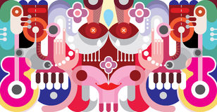 Abstract Art Illustration Royalty Free Stock Photography