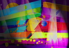 Abstract art and light effect. Brush backgrounds vector illustration
