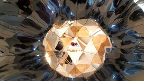 Abstract art with mirrors. `Cosmos` Riga, Latvia stock illustration