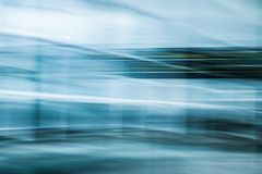 Contemporary abstract art, blue colors royalty free stock image
