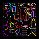 Abstract Art Neon Design Royalty-vrije Stock Afbeelding