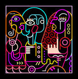 Abstract Art Neon Illustration Royalty-vrije Stock Afbeelding