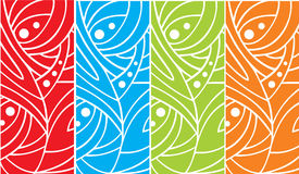 Abstract art nouveau background Stock Photos
