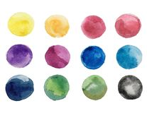 Free Abstract Art Of Colorful Bright Ink And Watercolor Textures On White Paper Royalty Free Stock Photos - 136343488