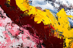 Abstract art oil on canvas. Abstract modern painting fragment. palette knife oil on canvas. artistic background vector illustration