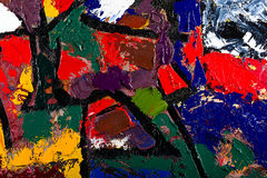 Abstract art oil on canvas Royalty Free Stock Images