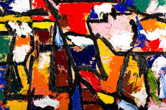 Abstract art oil on canvas Royalty Free Stock Photo