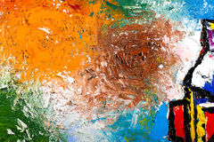 Abstract art oil on canvas. Abstract modern painting fragment. palette knife oil on canvas. artistic background stock illustration
