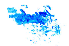 Abstract art oil color. Blue Stock Photo