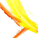 Abstract art oil color. Red, yellow Stock Image
