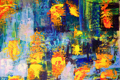 Abstract art painting. Blue background Royalty Free Stock Photos