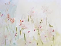 Abstract Art Painting Flower Background. Abstract light flower painting. Modern art background stock images