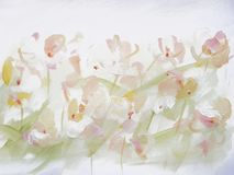Abstract Art Painting Flower Background. Abstract light flower painting. Modern art background stock photography