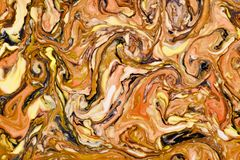 Abstract art of painting.Marble texture natural background. Blurred acrylic paint on water technique Ebru and Suminagashi .Eastern painting technique stock photos