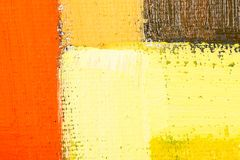 Abstract Art Painting. Abstract wallpaper, texture, background of close-up fragment of oil painting on canvas with brush strokes Stock Images