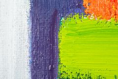 Abstract Art Painting. Abstract wallpaper, texture, background of close-up fragment of oil painting on canvas with brush strokes Stock Photos
