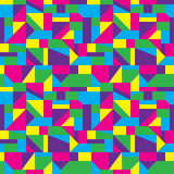 Abstract Art Pattern. Colorful geometric shapes background composition Royalty Free Stock Image