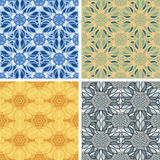 Abstract art pattern set. Colored abstract art pattern set royalty free illustration
