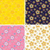 Abstract art pattern set. Colored abstract art pattern set Stock Image