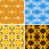 Abstract art pattern set. Colored abstract art pattern set Stock Photography