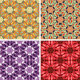 Abstract art pattern set. Colored abstract art pattern set Royalty Free Stock Photos