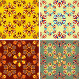 Abstract art pattern set. Colored abstract art pattern set Stock Images