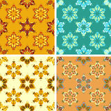 Abstract art pattern set. Colored abstract art pattern set stock illustration