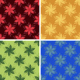 Abstract art pattern set. Colored abstract art pattern set Stock Photo