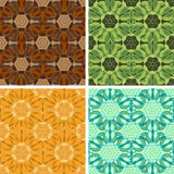 Abstract art pattern set. Colored abstract art pattern set Stock Photos