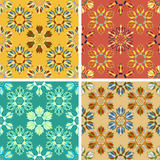 Abstract art pattern set. Colored abstract art pattern set Royalty Free Stock Photo